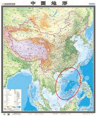 Ban do moi cua Trung Quoc : Bản đồ địa hình Trung Quốc do
