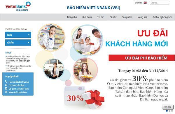 Tổng doanh thu phí bảo hiểm 6 tháng đầu năm 2014 của Bảo hiểm VietinBank tăng trưởng 89%