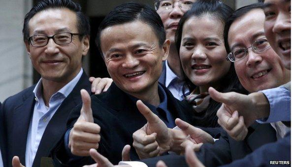 Alibaba nhảy vọt gần 40% trong ngày chào sàn, Dow Jones bước lên tầm cao mới