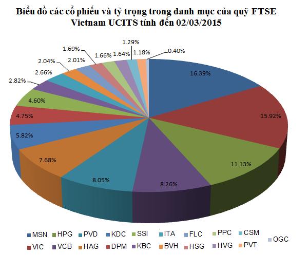 FTSE Vietnam ETF cơ cấu danh mục: Loại OGC, CSM, HSG và không thêm cổ phiếu nào?