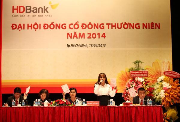 ĐHĐCĐ HDBank: Tiếp tục tìm đối tác nước ngoài, chọn thời điểm thích hợp niêm yết
