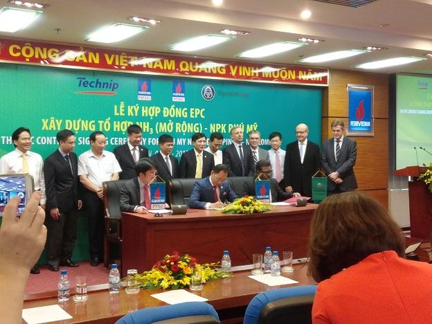 DPM: Ký kết hợp đồng EPC Tổ hợp NH3 – Nhà máy NPK Phú Mỹ