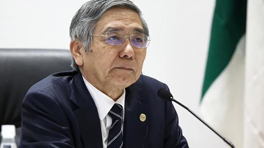 Thống đốc NHTW Nhật Bản: Không loại trừ khả năng tiếp tục hạ lãi suất sâu xuống mức âm