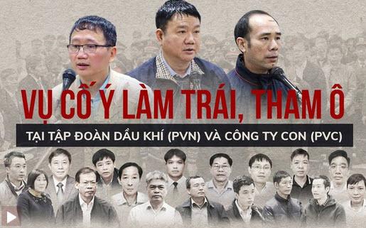Bản án của ông Đinh La Thăng và các đồng phạm