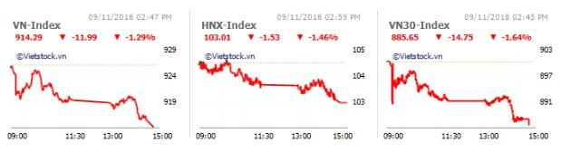 Nhịp đập Thị trường 09/11: Bán mạnh cuối phiên