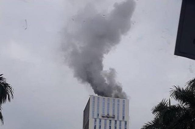 Hà Nội: Cháy lớn tại công trình Trung tâm lưu ký chứng khoán Việt Nam