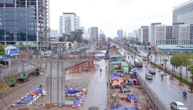 Có tiền nhưng dự án đường Vành đai 3 Mai Dịch - Nam Thăng Long vẫn chậm tiến độ