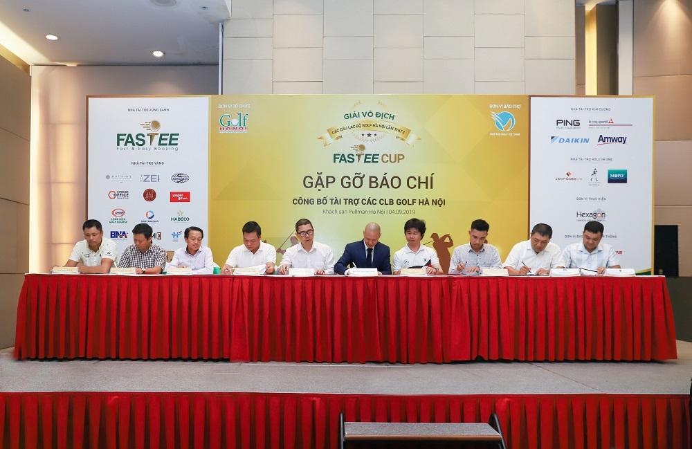 Nhà tài trợ xứng danh Fastee công bố tài trợ các CLB Golf Hà Nội