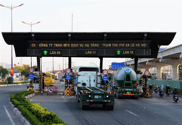 Trạm BOT Xa lộ Hà Nội sắp thu phí lại