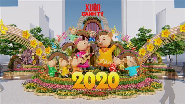 Đường hoa Nguyễn Huệ Tết 2020 có gì mới? - Ảnh 1.