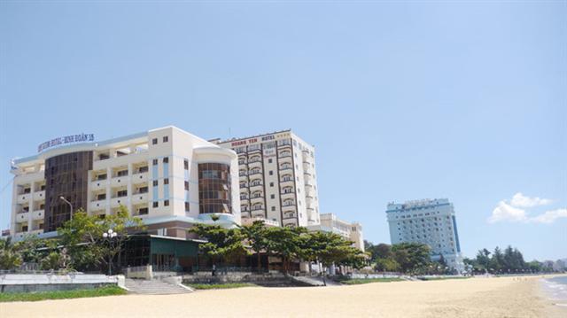 Bình Định khẩn trương di dời khách sạn ven biển Quy Nhơn