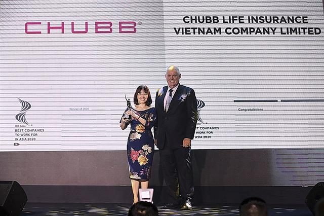 Chubb Life Vietnam honoured among Best Companies to Work for in Asia 2020 by HR Asia