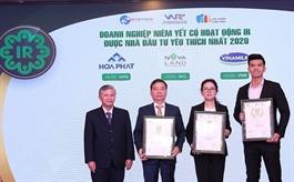 HPG, MWG, NVL, VHM và VNM là những doanh nghiệp Large Cap có hoạt động IR tốt nhất năm 2020