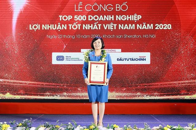 Chubb Life Vietnam honoured in top 500 most profitable companies in Vietnam 2020