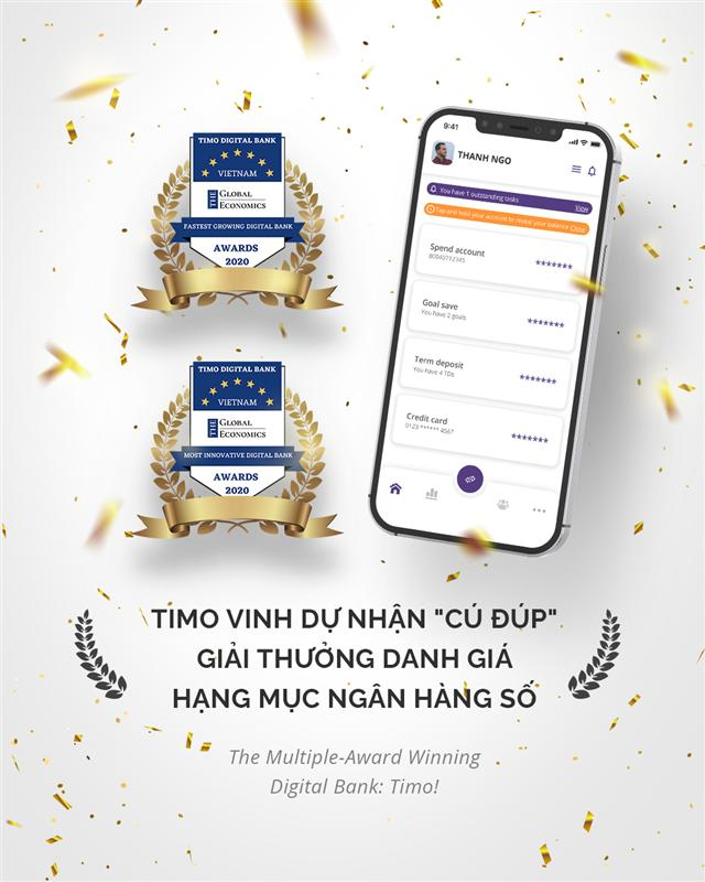 Timo wins Fastest Growing and Most Innovative Digital Banking awards