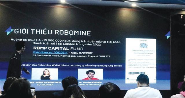 Công an vào cuộc xác minh dự án tiền ảo Robomine bị tố lừa nghìn tỷ