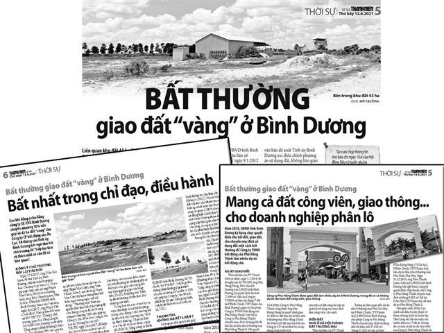 Sai phạm của Bí thư Bình Dương Trần Văn Nam gây hậu quả nghiêm trọng