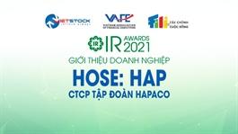 IR AWARDS 2021: Giới thiệu CTCP Tập đoàn Hapaco (HOSE: HAP)