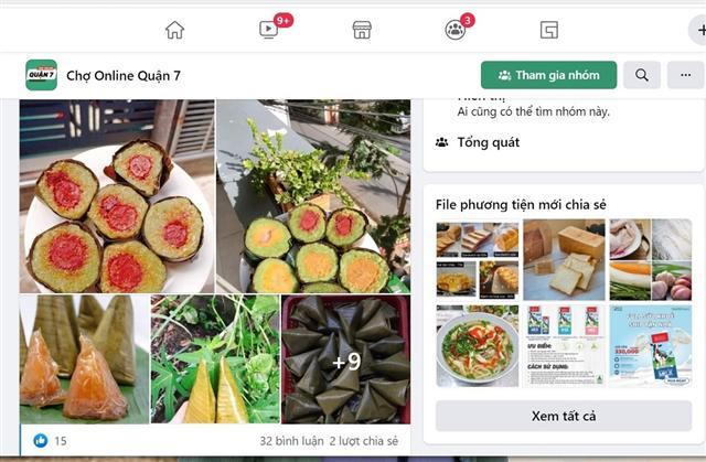Bùng phát chợ online thực phẩm