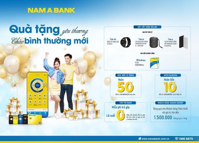 Nam A Bank triển khai 'mưa' ưu đãi chào bình thường mới